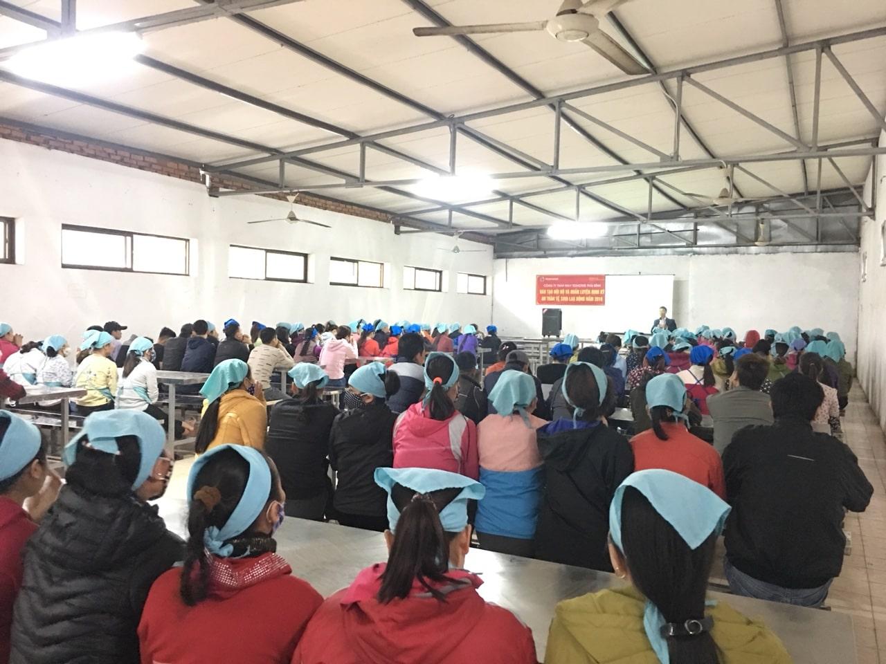 Huấn luyện an toàn lao động tại Công ty TNHH may Texhong Thái Bình