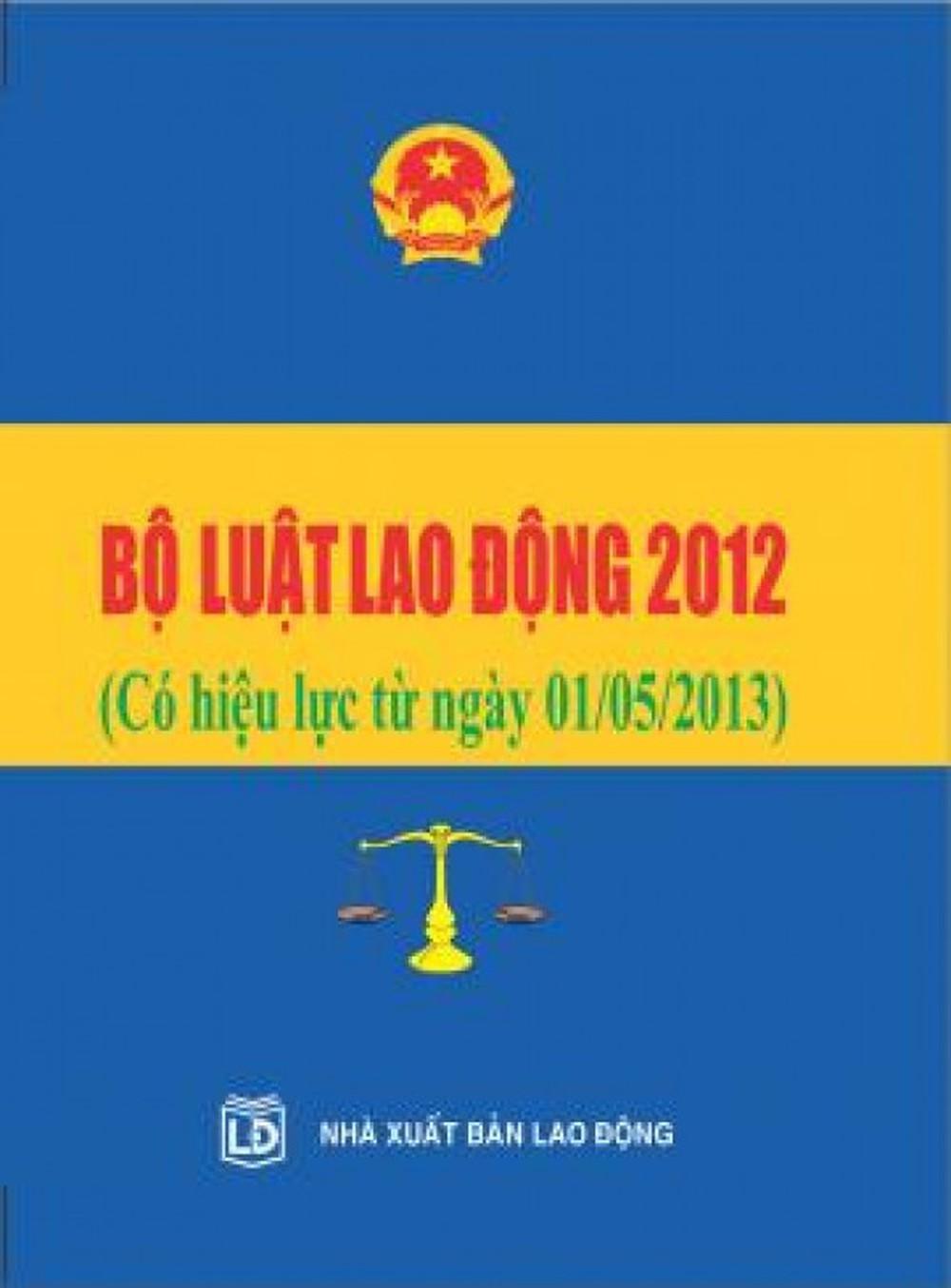Luật lao động số 10/2012/QH13