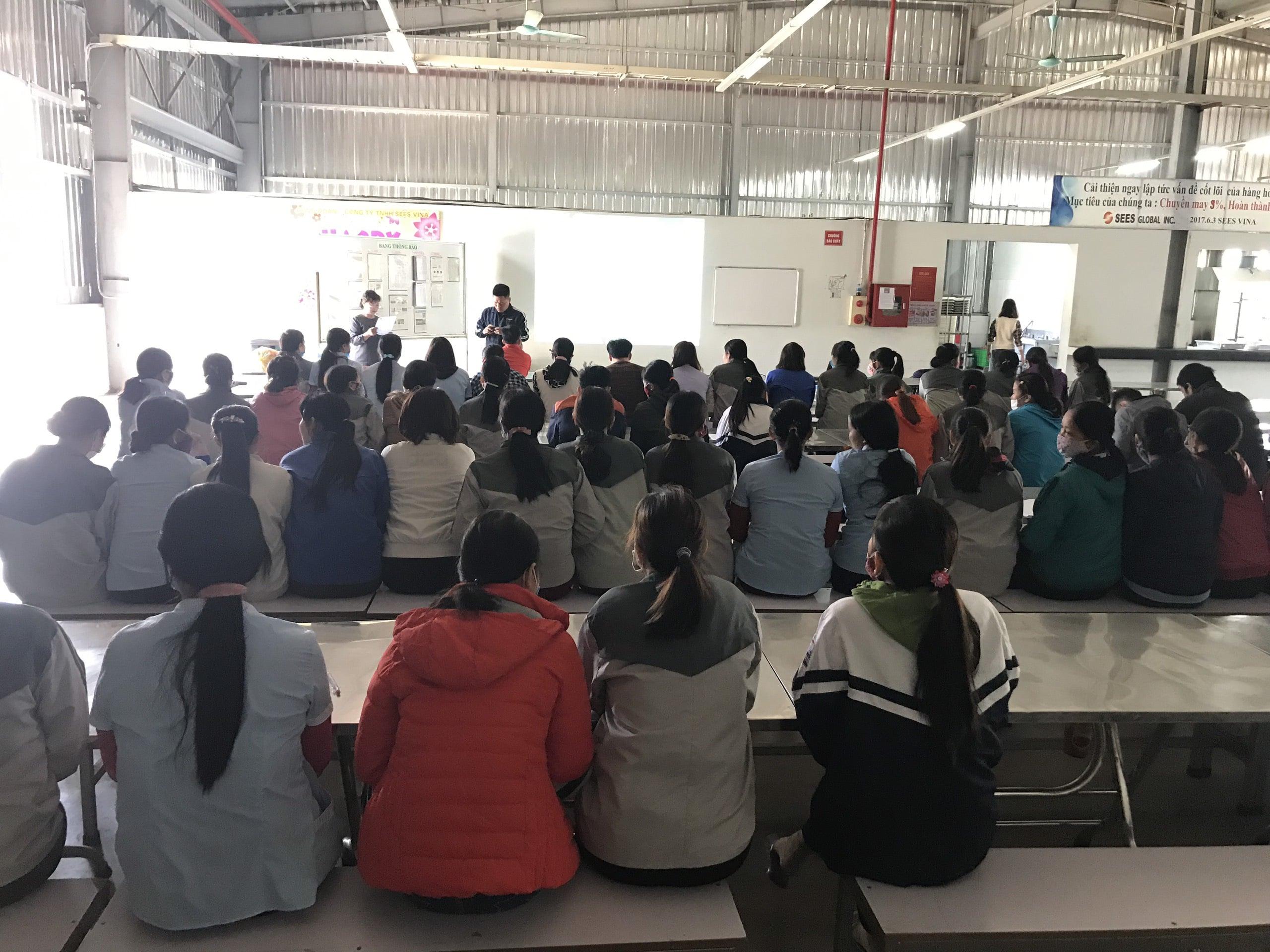 Huấn luyện an toàn, vệ sinh lao động tại Công ty TNHH Sees vina năm 2019